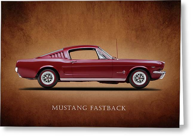 Ford Greeting Cards - Ford Mustang Fastback 1965 Greeting Card by Mark Rogan