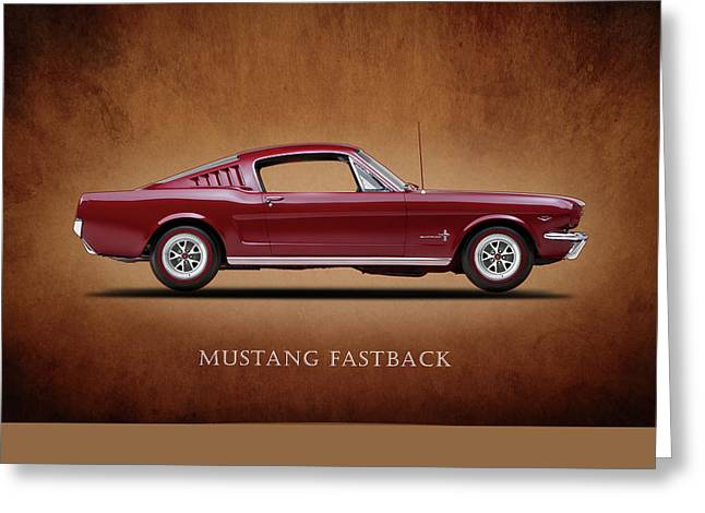 Fastback Greeting Cards - Ford Mustang Fastback 1965 Greeting Card by Mark Rogan