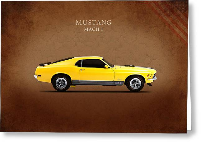 Classic Ford Greeting Cards - Ford Mustang Mach 1 Greeting Card by Mark Rogan