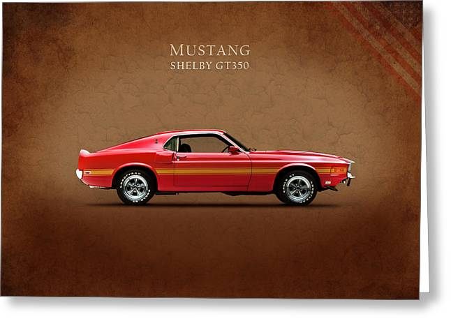 Mustang Gt350 Greeting Cards - Ford Mustang Shelby GT350 1969 Greeting Card by Mark Rogan