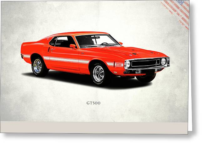 Ford Mustang Shelby Gt500 1969 Greeting Card by Mark Rogan