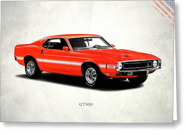 Ford Photographs Greeting Cards - Ford Mustang Shelby GT500 1969 Greeting Card by Mark Rogan