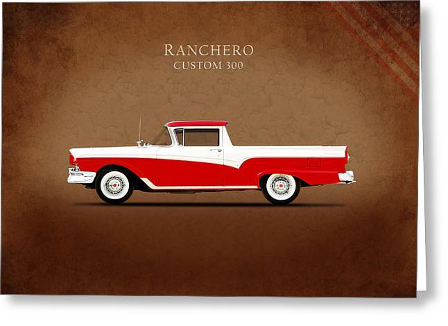 Ford Photographs Greeting Cards - Ford Ranchero 1957 Greeting Card by Mark Rogan