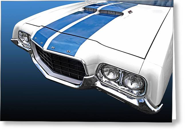 Ford Custom V8 Greeting Cards - Ford Ranchero 500 Greeting Card by Gill Billington