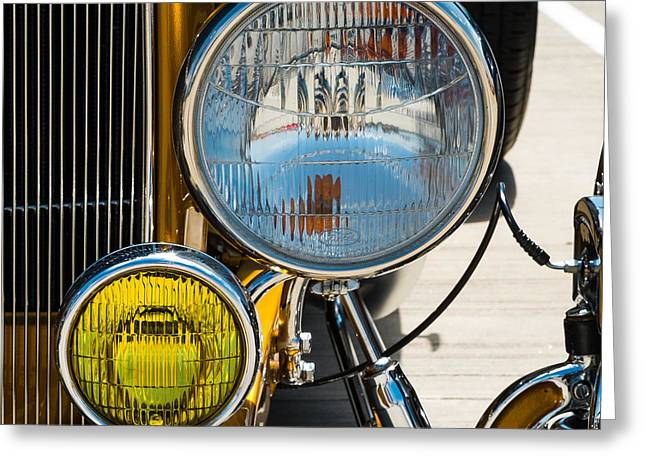 Ford Model T Car Greeting Cards - Ford Roadster headlight Greeting Card by Scott Hales