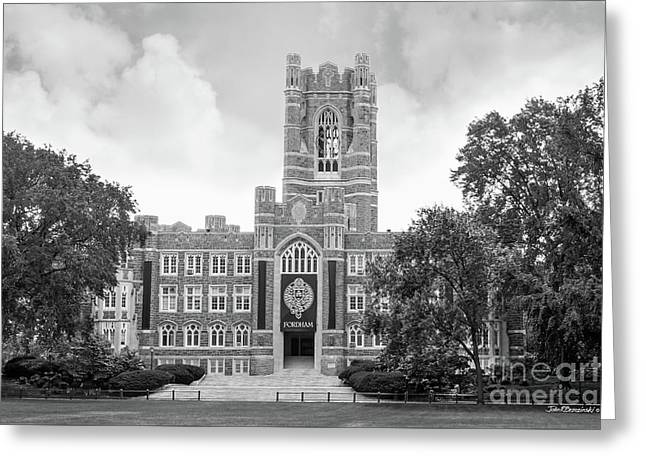 Fordham University Keating Hall Greeting Card by University Icons