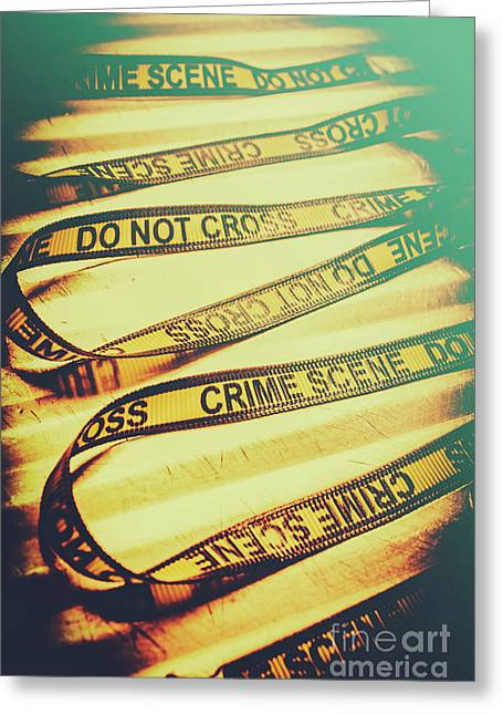 Forensic Csi Lab Details Greeting Card by Jorgo Photography - Wall Art Gallery