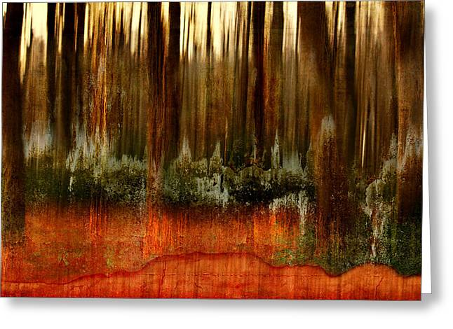 Forest Abstract Greeting Card by Heike Hultsch