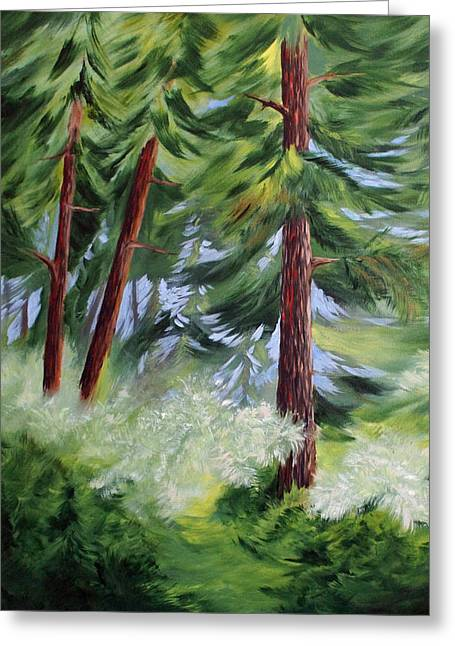 Forest Alive Greeting Card by Joanne Smoley