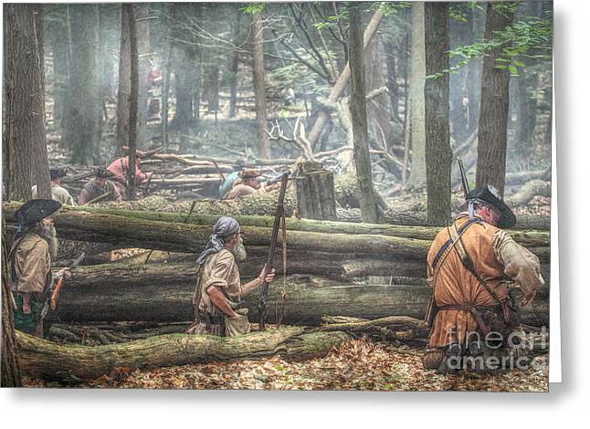 Citizens Greeting Cards - Forest Ambush Greeting Card by Randy Steele