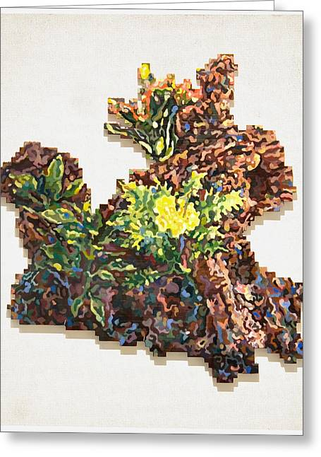 Lego Mixed Media Greeting Cards - Forest Bouquet Greeting Card by Karl Frey