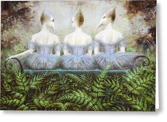 Imaginary World Greeting Cards - Forest Divas Greeting Card by Lolita Bronzini