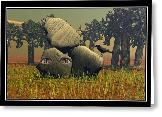 Best Sellers -  - Storm Prints Digital Art Greeting Cards - Forest Eyes Greeting Card by William  Ballester