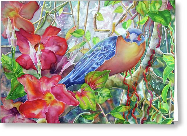 Mangrove Forest Paintings Greeting Cards - Forest Guardian Greeting Card by Deborah Younglao