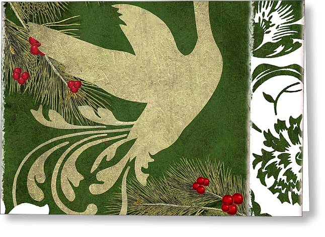 Pine Cones Greeting Cards - Forest Holiday Christmas Goose Greeting Card by Mindy Sommers