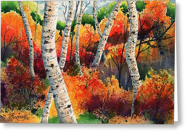 Forest In Color Greeting Card by Timithy L Gordon