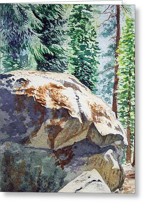 National Paintings Greeting Cards - Forest Greeting Card by Irina Sztukowski
