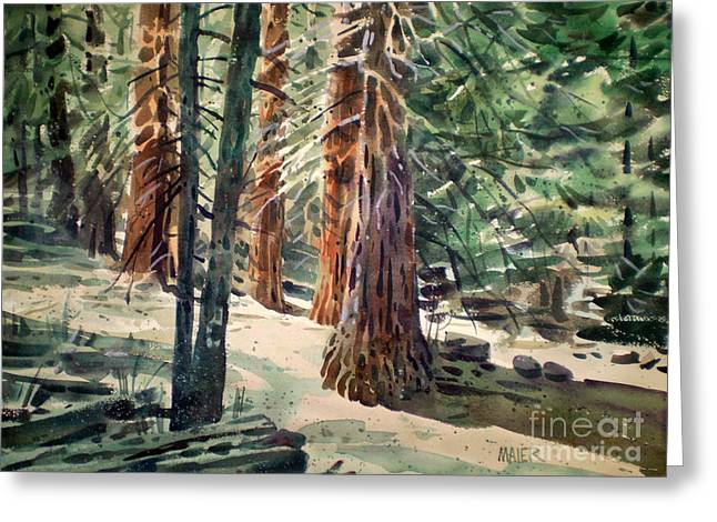 Coastal Trees Greeting Cards - Forest Murmers Greeting Card by Donald Maier