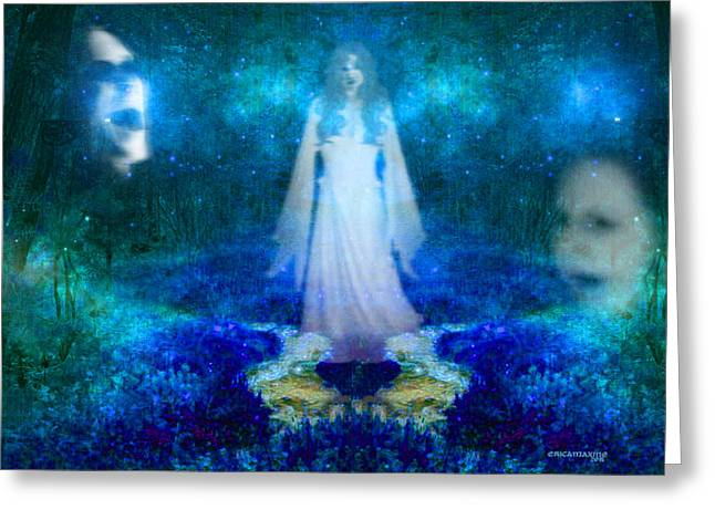 Stream Digital Greeting Cards - Forest of Ghosts Greeting Card by EricaMaxine  Price
