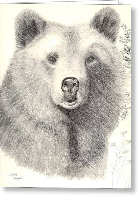 Forest Sentry Greeting Card by Joette Snyder