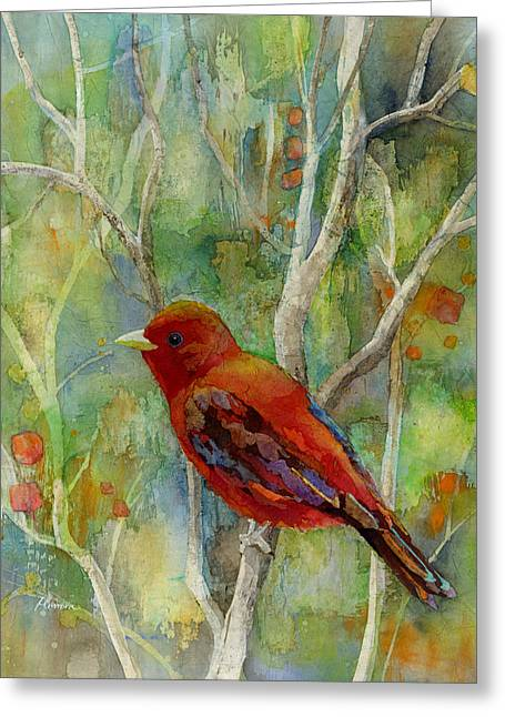 Forest Serenity Greeting Card by Hailey E Herrera