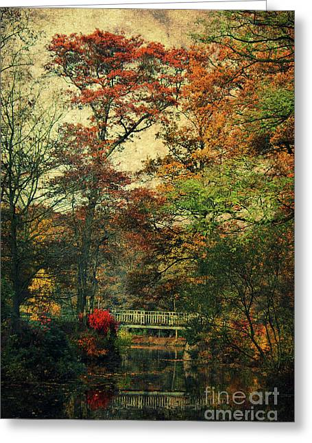Autumn Sheets Greeting Cards - Forest Vintage Greeting Card by Angela Doelling AD DESIGN Photo and PhotoArt