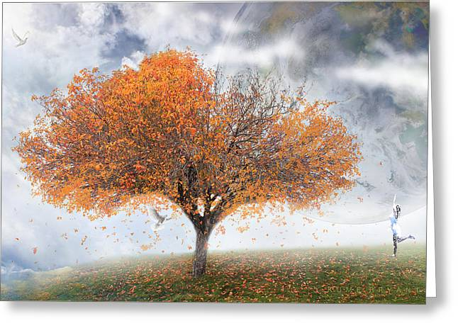 Forever Autumn Greeting Card by Kume Bryant