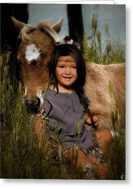 Artist Photographs Greeting Cards - Forever Friends... Greeting Card by Lolita Ronalds