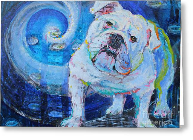 Bulldog Puppies Pictures Greeting Cards - Forever in Your Heart Greeting Card by Susan Davies