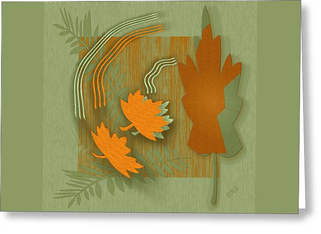 Ben And Raisa Digital Art Greeting Cards - Forever Leaves Greeting Card by Ben and Raisa Gertsberg