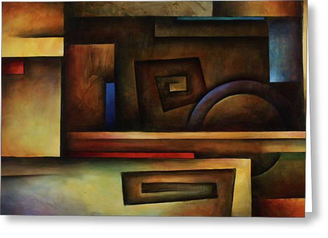 Geometric Shape Paintings Greeting Cards - Forever Greeting Card by Michael Lang