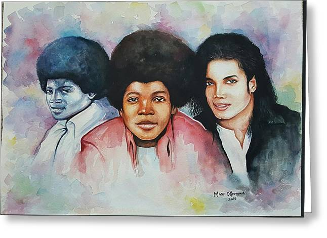 Forever Mj Greeting Card by Okpeyowa Moses   Marquis