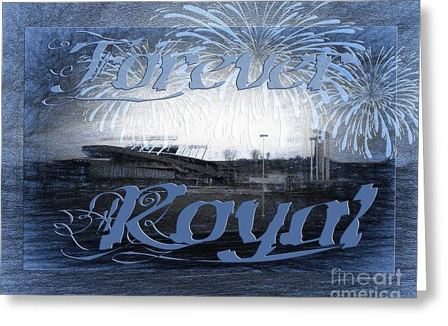 Baseball Art Greeting Cards - Forever Royal Greeting Card by Andee Design