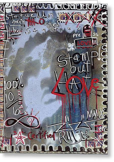 Postage Mixed Media Greeting Cards - Forever Stamp Greeting Card by Robert Wolverton Jr