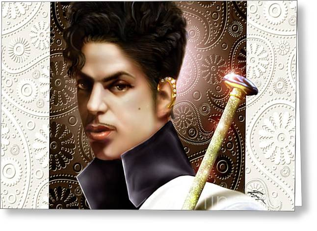 Forevermore The Young Prince Of Paisley 1a Greeting Card by Reggie Duffie
