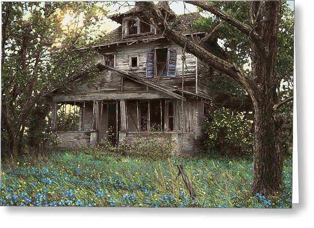 Forgotten Paintings Greeting Cards - Forget-Me-Not Greeting Card by Doug Kreuger