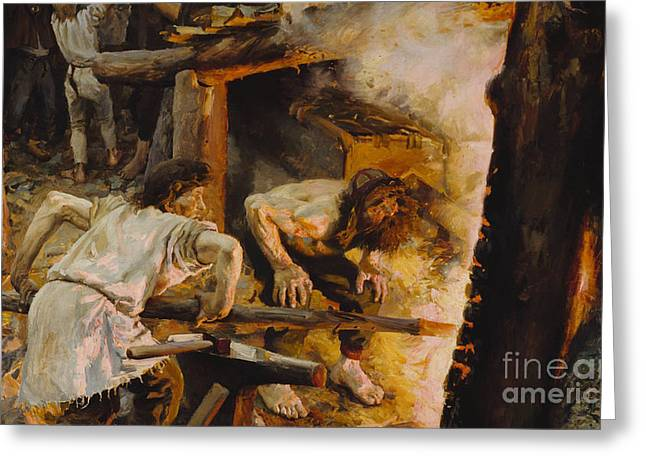 Forging Greeting Cards - Forging of the Sampo Greeting Card by Celestial Images