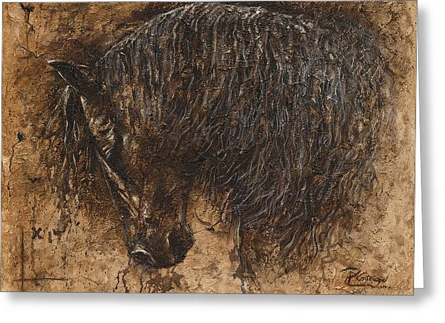 Forgiven Greeting Card by Paula Collewijn -  The Art of Horses