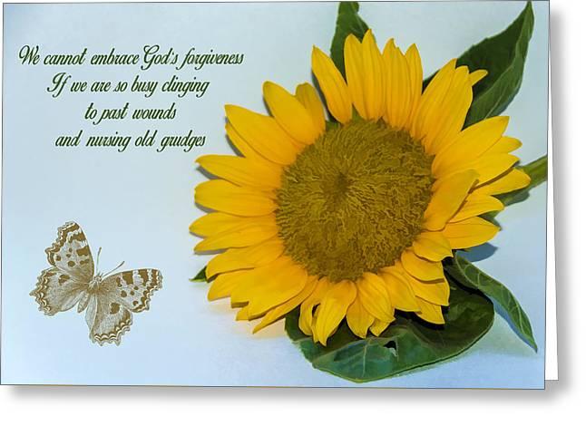 Texting Greeting Cards - Forgiveness Greeting Card by Cathy Kovarik