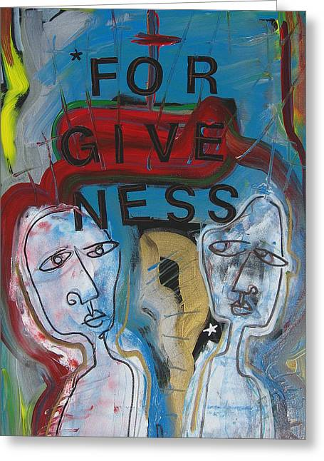 Forgiveness Mixed Media Greeting Cards - Forgiveness Greeting Card by Christopher  Taylor
