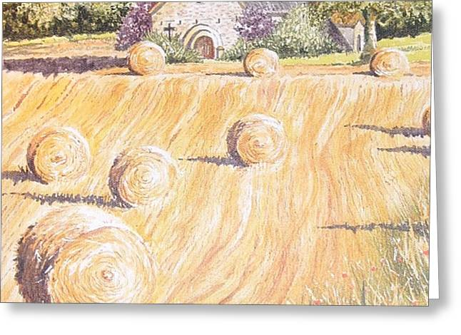 Forgotten Chapel Greeting Card by Frances Evans