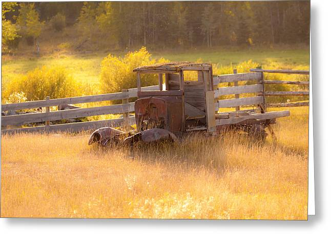 Old Trucks Greeting Cards - Forgotten Greeting Card by Naman Imagery