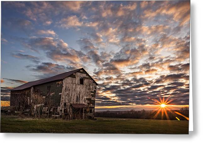 Tin Roof Greeting Cards - Forgotten Dreams on Pickup Hill Greeting Card by Chris Bordeleau