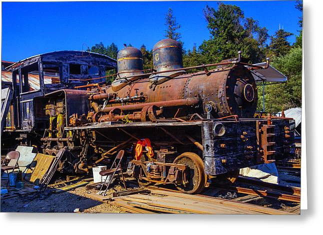 Forgotten Engine Greeting Card by Garry Gay