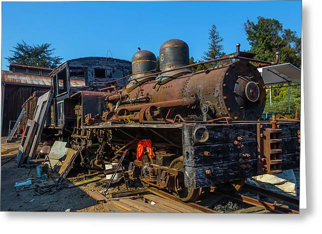 Forgotten Engine Number Six Greeting Card by Garry Gay