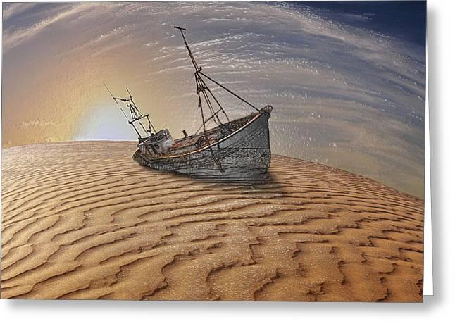 Sahara Sunlight Greeting Cards - Forgotten Fields Greeting Card by Scott Mendell