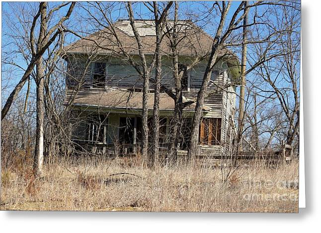 Residential Structure Greeting Cards - Forgotten House Greeting Card by Mark McReynolds