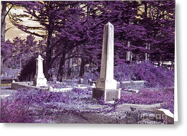 Half Moon Bay Greeting Cards - Forgotten Monuments Greeting Card by Laura Iverson