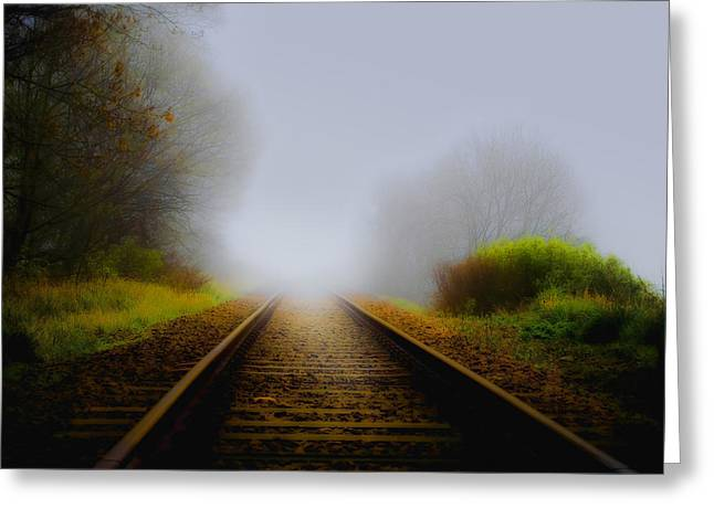 Svetlana Sewell Greeting Cards - Forgotten Railway Track Greeting Card by Svetlana Sewell