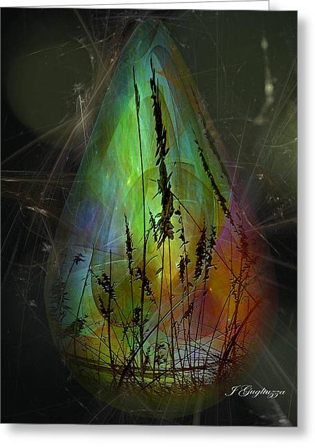 Despair Greeting Cards - Forgotten tear from a time no more Greeting Card by Jean Gugliuzza
